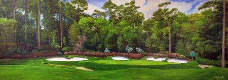 Augusta National 13 Art Azalea Panorama