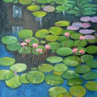 Water Lilies - Homage to Monet Art Prints & Posters by Robert Holewinski