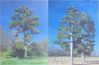 Original Fine Art Landscape Painting of Pine Trees