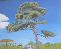 Original Fine Art Landscape Pine Tree Painting
