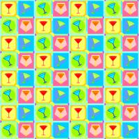 Retro Martini Pattern | Pop Art Art Prints & Posters by William Cuccio