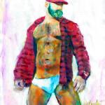 Big Red Sexy Bear Man by RD Riccoboni