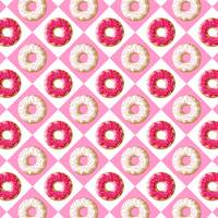Pink and White Donut Heaven | Pop Art