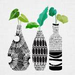 Black and White Tribal Vases Prints & Posters