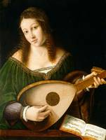 Bartolomeo Veneto and Workshop Lady Playing a Lute