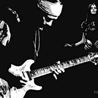 Carlos Santana (Black Magic Woman) Art Prints & Posters by Dave Gafford