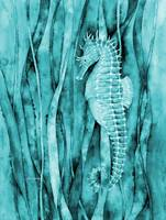 Seahorse in Blue