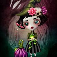 Fairuza, Little Witch Art Prints & Posters by SANDRA VARGAS