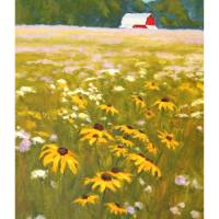 """Farm-field-wildflowers-IK"" by davidwesterfield"