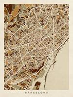 Barcelona Spain City Map