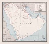Map of the Arabian Peninsula (1964)