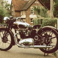 The 1940 Speed Twin Motorcycle Art Prints & Posters by Mark Rogan