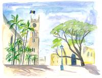 Street Scene in Bridgetown Barbados