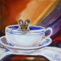 Tea for One- Mouse in Teacup  SM Violano