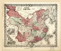 Colton's Map of China (1865)