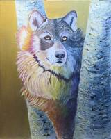 Wildlife Fantasy Wolf Painting