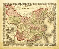 Colton's Map of China (1861)
