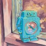 Robot Clock by Heather Kostal