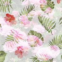 Floral Botanical Pattern in Pink and Green by Carol Groenen