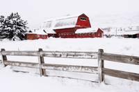 Winter Barn IV by David Kocherhans