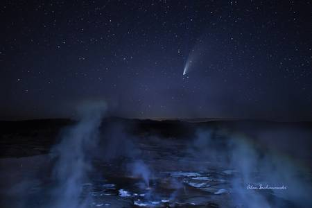 Neowise Comet Over Porcelain Basin