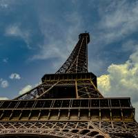 Eiffel Tower on Clouds Art Prints & Posters by Tim Stringer