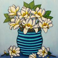 Magnolia Grandiflora, A Southern Charm Art Prints & Posters by Lisa Lorenz