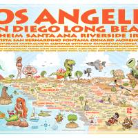 Southern California List of Cities - horizontal Art Prints & Posters by Dave Stephens