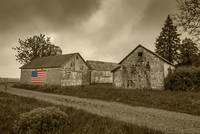 North fork flag barn