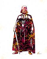 Darth Vader | Star Wars | Splatter | Pop Art