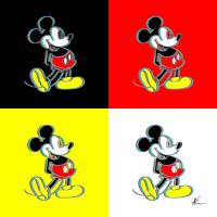 Mickey Mouse | Outline | Pop Art Art Prints & Posters by William Cuccio