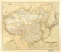 Map of China and Japan (c 1900)