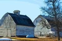 Side By Side Barns by Kirt Tisdale