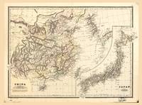Map of China & Japan (1894)