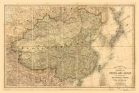 Map of China and Japan (c 1880)