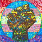 One House One Family One World Mosaic by RD Riccoboni