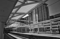 Denver Light Rail Platform At Union Station by Kirt Tisdale
