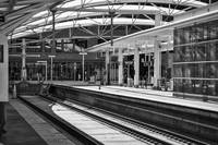 The Covered Train Station Platform In Denver by Kirt Tisdale