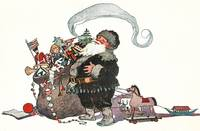 Vintage Christmas Illustration St Nick