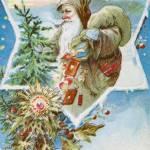 Christmas Illustration St Nick Prints & Posters