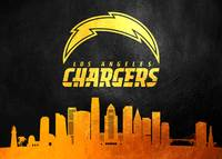 los angeles chargers gold