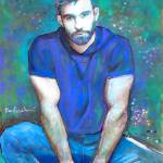 Blue Wolf Man  by RD Riccoboni