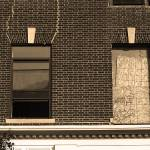 Hackensack, NJ - Boarded Up 2018 Sepia Prints & Posters