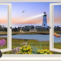 Window Lighthouse View Art Prints & Posters by Nina Bradica