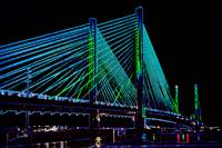 Indian River Bridge Night Abstract