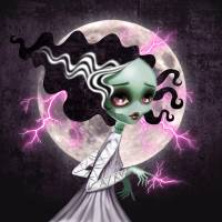 Bride of Frankenstein Art Prints & Posters by SANDRA VARGAS