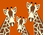 Giraffe Family by Pixel Paint Studio