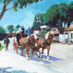 Calhoun Street Old Town San Diego Stagecoach Prints & Posters