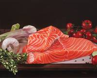 June-Salmon still life
