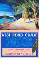 West Indies Cruise Retro Travel Poster